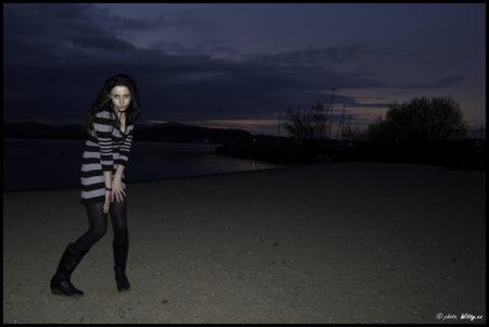 večerní pláž u Lipna | Černá v Pošumaví