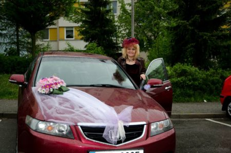 odjezd na svatební obřad, Honda Accord 2003 | Český Krumlov