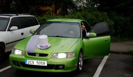 odjezd na svatební obřad, Honda Accord 1997 | Český Krumlov