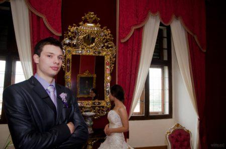 zrcadlo v interiéru hradu | Český Krumlov