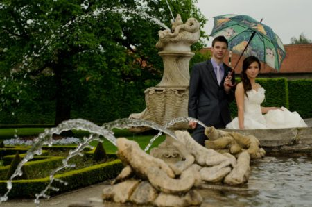 fontána v zámecké zahradě | Český Krumlov