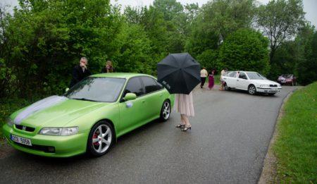 nasedání do aut | Slavkov