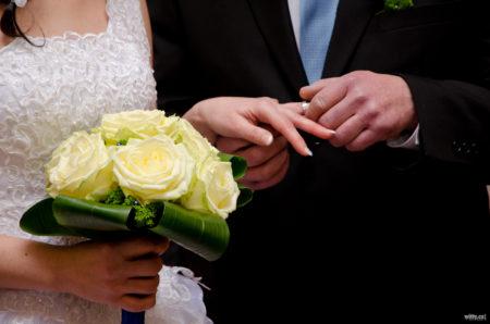 navléknutí svatebního prstýnku | Český Krumlov