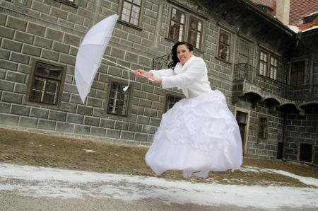 Mary Poppins na druhém zámeckém nádvoří | Český Krumlov