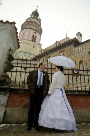 pod zámeckou věží na prvním nádvoří | Český Krumlov
