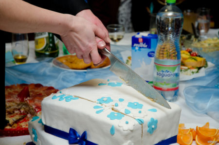 společné krájení dortu | restaurace Horfa, Slavkov