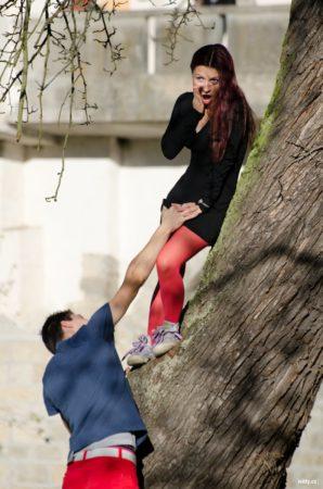 na stromě, Jelení zahrada | Český Krumlov
