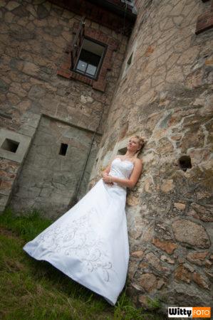 nevěsta u zámku | Třeboň