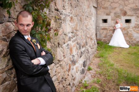 novomanželé u zámku | Třeboň