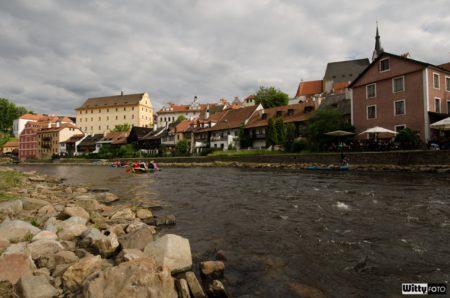 Vltava, pohled z Náplavky | Český Krumlov, Slavnosti pětilisté růže 2014