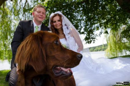 manželé společně se psem | Frymburk