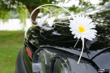 vyzdobený VW Golf GTI manželů | Frymburk