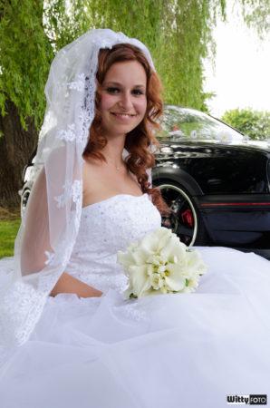 nevěsta s květinou | Frymburk
