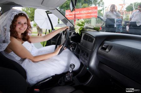 nevěsta ve VW Golf GTI | Frymburk