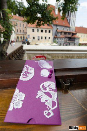 svatební oznámení, výhled z pensionu Parkán | Český Krumlov