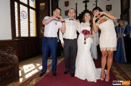 novomanželé se svědky | Rožmberk nad Vltavou