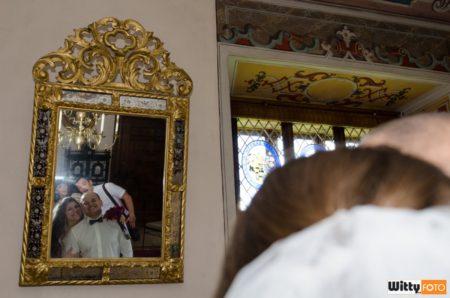 svědkové s novomanželi v zrcadle | Rožmberk nad Vltavou