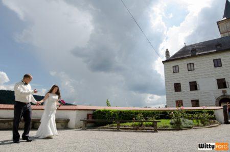 terasa před hradem | Rožmberk nad Vltavou