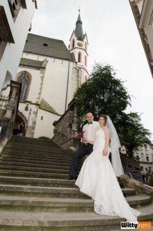 schodiště u kostela sv. Víta | Český Krumlov