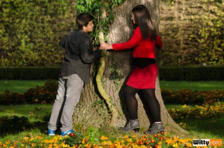 Dominika s Filipem | zámecká zahrada, Český Krumlov