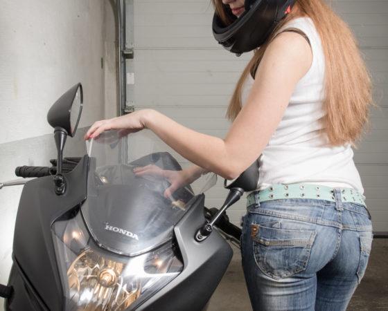 Nataša a Honda CBR