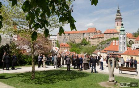 tiskovka v Jezuitské zahradě | Český Krumlov