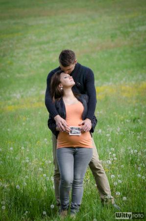 Jiří a Lenka s obrázkem z ultrazvuku | Zlatá Koruna