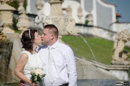 zámecká zahrada, fontána | Český Krumlov