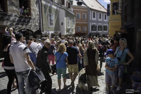 ulice Latrán, 14:30 Vladařský historický průvod městem | Český Krumlov, Slavnosti pětilisté růže 2016