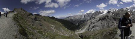 180° panorama průsmyku | Passo dello Stelvio 2758 m