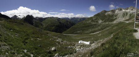 panoráma s cisternou | Nufenenpass 2478 m