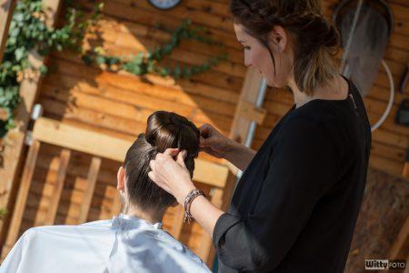 svatební přípravy, účes nevěsty