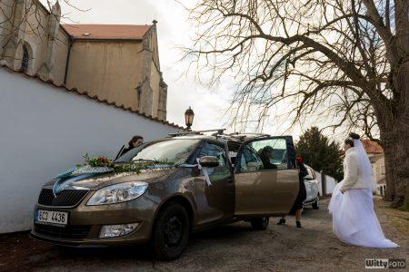 příjezd nevěsty | Zlatá Koruna