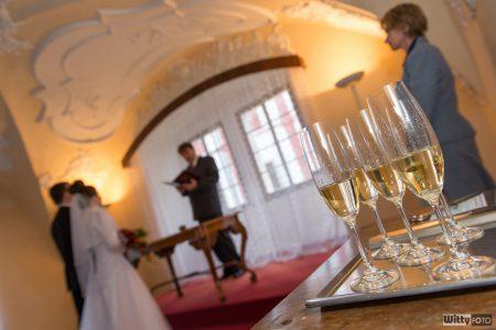 skleničky na svatební přípitek | Zlatá Koruna