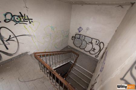 schodiště, hotel Vyšehrad | Český Krumlov
