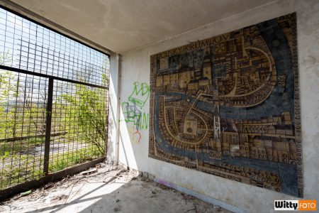 pěkná keramická mapa-mozaika, hotel Vyšehrad | Český Krumlov