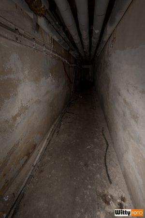 podzemní chodba směrem k diskotéce, hotel Vyšehrad | Český Krumlov