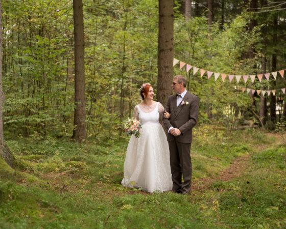 příchod nevěsty s otcem | Horní Planá