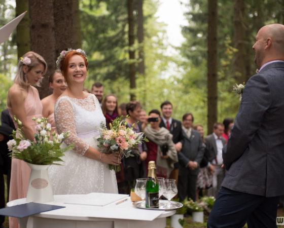 svatební obřad v lese | Horní Planá