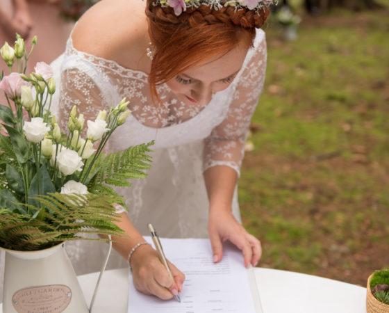 podpis nevěsty | Horní Planá