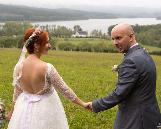novomanželé u Lipna | Horní Planá