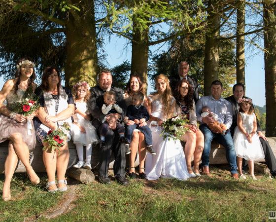 skupinové focení s novomanželi | Olšina
