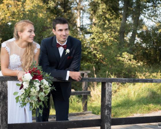 novomanželé na můstku | Olšina
