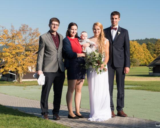 společné focení s novomanželi | Olšina